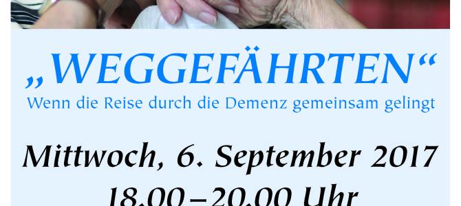 Weggefährten – Vortrag zum Thema Demenz am 6. September 2017